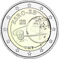 Belgien 2 Euro 2018 Forschungssatellit Iris 2 ESRO-2B prägefrisch in Münzkapsel