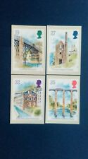 1989 INDUSTRIAL ARCHAEOLOGY MIN. SHEET STAMPS PHQ CARDS WITH A NEW LANARK F.D.I.