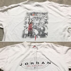 NIKE Michael JORDAN 90s VTG Last Shot T Shirt Made USA BEST EVER Youth L Bulls