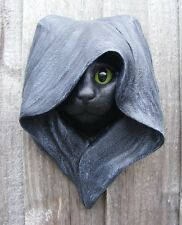 Mystic CAT or CROW Plaque GARDEN / INDOOR Wall Pagan Goth Black Xmas Gift