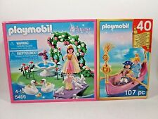 2013 Playmobil 5456 Magic Castle Kingdom Sets NEW Swans Queen Boat + 40th Anniv.