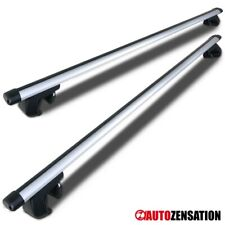 """48"""" Roof Top Rail Rack Cross Bars Aluminum Luggage Carrier w/ Adjustable Clamps"""