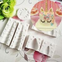 7Pcs/Set 3D Unicorn Ear Eye Silicone Mold Cake Fondant Chocolate Baking Mould