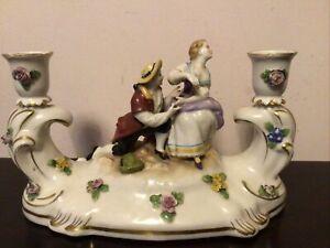 Alte Schierholz Thüringen*Liebespaar*Porzellan Figur Kerzenhalter