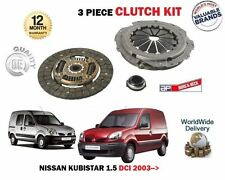 FOR NISSAN KUBISTAR 1.5 DCI 2003->NEW 3 PIECE CLUTCH KIT PLATE COVER BEARING SET