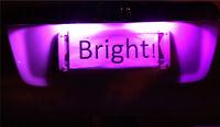 Bright Purple LED Number Plate Light Bulbs for Nissan Navara D22