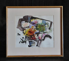 IRENA D. GRIEZE (JONYNAS) 1931-- ABSTRACT WATERCOLOR & INK PAINTING - LITHUANIA