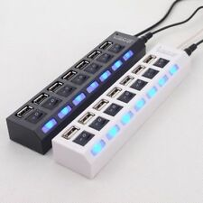 7 Port USB 2.0 Hub High Speed Adapter With ON/OFF Switch for Laptop / PC