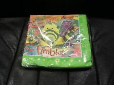 FIMBLES PARTY SERVIETTES NAPKINS PACK OF 20 - BRAND NEW IN SEALED PACKAGING