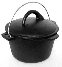 SMALL STOCK POT WITH HANDLE CAST IRON COOKING/STOVES/COOKWARE/DUTCH OVEN
