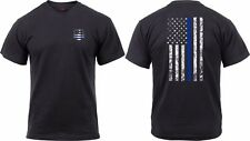 Patriotic Athletic Fit Distressed USA US Flag Mens T-shirt Black Rothco 2901 M
