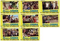 SESSO IN GABBIA SET FOTOBUSTE 8 PZ. FILM SEXPLOITATION 1971 RARE USED LOBBY CARD