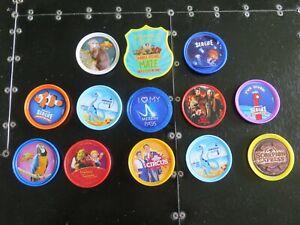 13 x Merlin Pop Badge Bundle - Chessington, York Dungeon, Madame Tussauds etc.