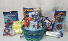 Spider-Man Filled Birthday Easter Gift Basket Peeps color puzzle paint FUN!