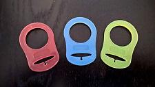 MAM Baby Ciuccio in silicone di stile Manichino Adattatori Anello Clip x 3 colori Rosso