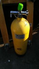 "Vintage Yellow Steel Us Divers Co. Aqua Lung Scuba Tank 28"" Tall; 2250; Fast S&H"