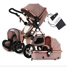 Baby Stroller 3 in 1 with Car Seat For Newborn High View Folding Baby Carriage