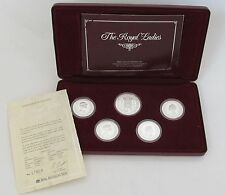 1992 The Royal Ladies Australia Silver Coin Set with Luxury Box & Certificate