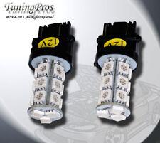 (1 Pair) Set of 2 pcs Tail Light 3157 18 SMD Amber LED Light Bulbs 3057 3357
