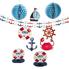 Nautical Sailor Ahoy Decorating Kit Baby Shower Supplies Party Sailing Theme