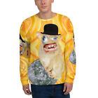Spongmonkeys Unisex Sweatshirt on a yellow rose background