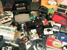 LARGE LOT OF CAMERAS VINTAGE MODERN POLAROID CANON KODAK ARGUS PARTS MORE