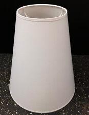 Baumwolle Lampenschirm E27 weiß rund Ø 30 15