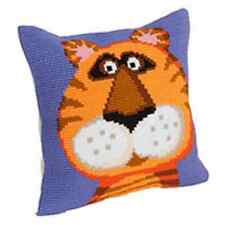 Collection D'Art Cross Stitch Cushion Kit: Terence the Tiger CD5181