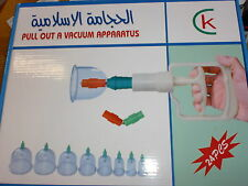 24 piezas Conjunto de la terapia magnética Acupuntura de embutición al vacío aparato de Succión