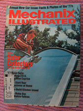 Mechanix Illustrated Mag, solar collector, interior paints Oct. 1976