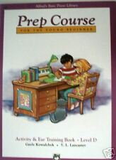SALE - Alfred Basic Piano Prep Activity - EarTraining D
