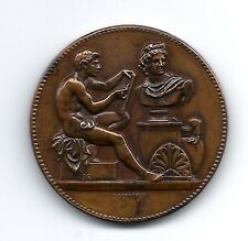 Art Nouveau design teaching city of Paris 1892 Bronze Medal by Jean Lagrange M32