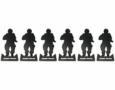 Silhouette Metal Aim Target Sets for BB Practice 6Pcs