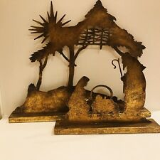 The Promise of Christmas Robert Stanley Metal Nativity Creche Jesus 2 Piece
