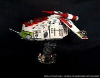 Display stand 3D +slots for Lego 75021-7676 Republic Gunship