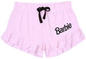 Pink Pyjama Shorts For Ladies Frill Hem BARBIE