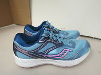 WOMENS SAUCONY GRID COHESION 12 BLUE WHITE PINK RUNNING SHOES SIZE 9M A2