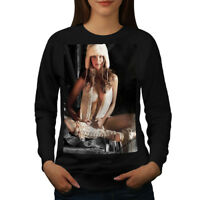 Wellcoda Nude Woman Hot Girl Sexy Womens Sweatshirt, Lady Casual Pullover Jumper
