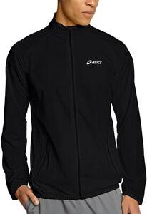 Asics Essentials Woven Mens Running Jacket Black Lightweight Ventilated