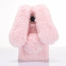 Adorable Warm Fluffy Rabbit Fur Phone Case Cover for iPhone Samsung Smartphones