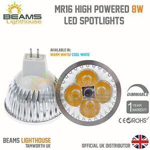Premium Dimmable MR16 6W 8W 9W WARM/ COOL WHITE White LED Light Bulb Spotlight