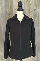 Columbia Fleece Jacket Women's Medium Black Full Zip Soft 100% Polyester