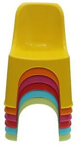 Bright Coloured Stackable Plastic Children Chairs Strong & Durable