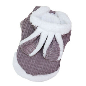 Pet Dog Puppy Winter Warm Clothes Cute Costume Rabbit Design Cotton Coat Costume