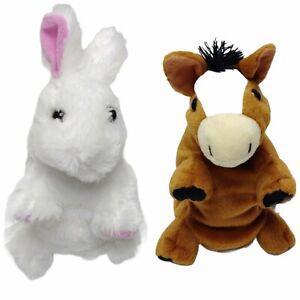 Wild Republic Switch A Rooz Plush Charm Horse Pony & Lucky Bunny Rabbit 2015