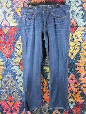 Lucky Brand mens dark distressed 221 Original bootcut jeans 34x30 EUC