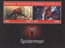 AMAZING SPIDERMAN MOVIE IMAGES CENTRAFRICAINE 2017 MNH STAMP SHEETLET