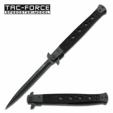 SPRING-ASSIST FOLDING POCKET KNIFE | Tac-Force Black Large 12.5