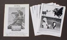 Vtg Mulan (Disney) Movie Promo T.V. Film Press Kit / Lobby Card Photos