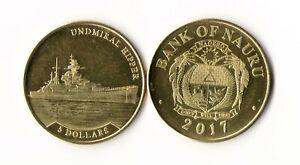 Nauru - 5 Dollars 2017 Undmiral Hipper UNC